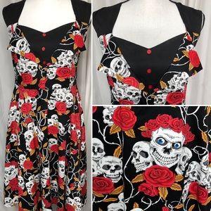 Skull Roses Dress M